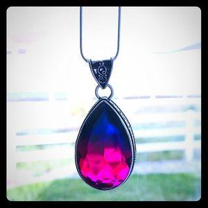 Multifacited Bicolor Pear Stone .925